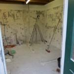 de oude toiletruimte is 'gestript'...